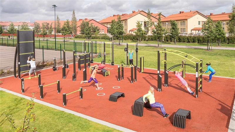 Lappset outdoor fitness area